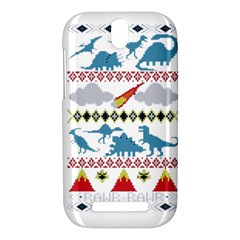 My Grandma Likes Dinosaurs Ugly Holiday Christmas HTC One SV Hardshell Case