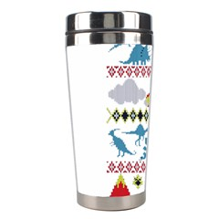 My Grandma Likes Dinosaurs Ugly Holiday Christmas Stainless Steel Travel Tumblers