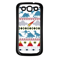 My Grandma Likes Dinosaurs Ugly Holiday Christmas Samsung Galaxy S3 Back Case (Black)