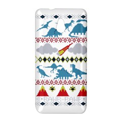 My Grandma Likes Dinosaurs Ugly Holiday Christmas HTC One Mini (601e) M4 Hardshell Case