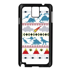 My Grandma Likes Dinosaurs Ugly Holiday Christmas Samsung Galaxy Note 3 N9005 Case (Black)