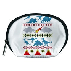 My Grandma Likes Dinosaurs Ugly Holiday Christmas Accessory Pouches (Medium)