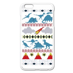 My Grandma Likes Dinosaurs Ugly Holiday Christmas Apple iPhone 6 Plus/6S Plus Enamel White Case