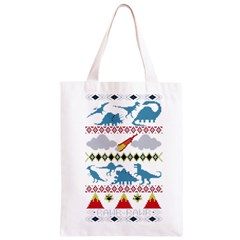 My Grandma Likes Dinosaurs Ugly Holiday Christmas Classic Light Tote Bag