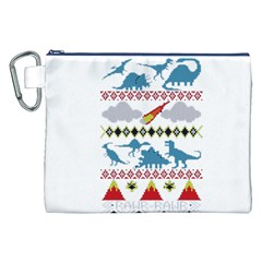 My Grandma Likes Dinosaurs Ugly Holiday Christmas Canvas Cosmetic Bag (XXL)