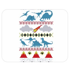 My Grandma Likes Dinosaurs Ugly Holiday Christmas Double Sided Flano Blanket (Medium)