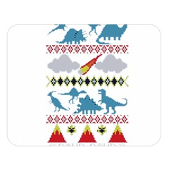 My Grandma Likes Dinosaurs Ugly Holiday Christmas Double Sided Flano Blanket (Large)