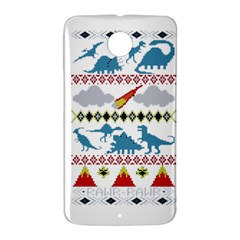 My Grandma Likes Dinosaurs Ugly Holiday Christmas Nexus 6 Case (White)