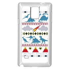 My Grandma Likes Dinosaurs Ugly Holiday Christmas Samsung Galaxy Note 4 Case (White)