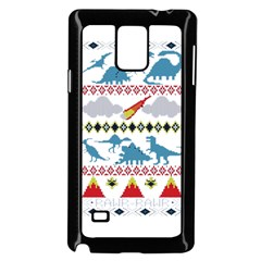 My Grandma Likes Dinosaurs Ugly Holiday Christmas Samsung Galaxy Note 4 Case (Black)