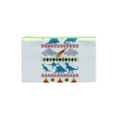 My Grandma Likes Dinosaurs Ugly Holiday Christmas Cosmetic Bag (XS)