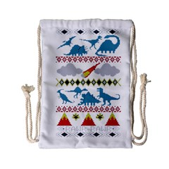 My Grandma Likes Dinosaurs Ugly Holiday Christmas Drawstring Bag (Small)