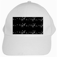 Black elegant  Xmas design White Cap