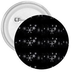 Black elegant  Xmas design 3  Buttons