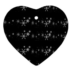 Black elegant  Xmas design Ornament (Heart)