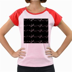 Black elegant  Xmas design Women s Cap Sleeve T-Shirt