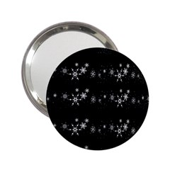 Black elegant  Xmas design 2.25  Handbag Mirrors