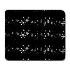 Black elegant  Xmas design Large Mousepads