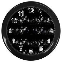 Black elegant  Xmas design Wall Clocks (Black)