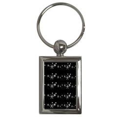 Black elegant  Xmas design Key Chains (Rectangle)
