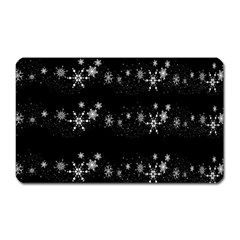 Black elegant  Xmas design Magnet (Rectangular)