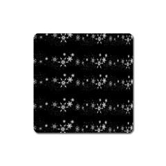 Black elegant  Xmas design Square Magnet