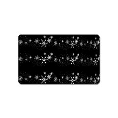 Black elegant  Xmas design Magnet (Name Card)