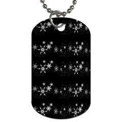 Black elegant  Xmas design Dog Tag (One Side)