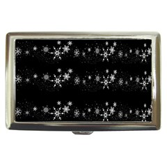 Black elegant  Xmas design Cigarette Money Cases