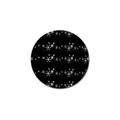 Black elegant  Xmas design Golf Ball Marker