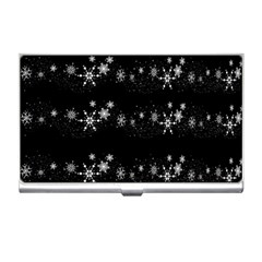 Black elegant  Xmas design Business Card Holders