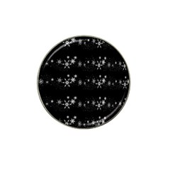 Black elegant  Xmas design Hat Clip Ball Marker (4 pack)