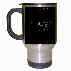 Black elegant  Xmas design Travel Mug (Silver Gray)