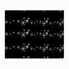Black elegant  Xmas design Small Glasses Cloth