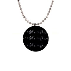 Black Elegant  Xmas Design Button Necklaces