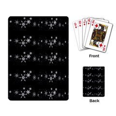 Black elegant  Xmas design Playing Card