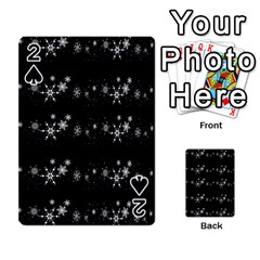 Black elegant  Xmas design Playing Cards 54 Designs