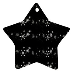 Black elegant  Xmas design Star Ornament (Two Sides)