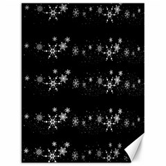 Black elegant  Xmas design Canvas 12  x 16