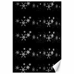 Black elegant  Xmas design Canvas 12  x 18