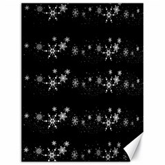 Black elegant  Xmas design Canvas 18  x 24