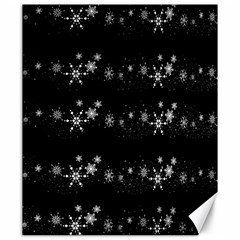 Black elegant  Xmas design Canvas 20  x 24