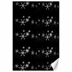 Black elegant  Xmas design Canvas 24  x 36