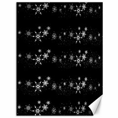 Black elegant  Xmas design Canvas 36  x 48