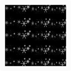 Black elegant  Xmas design Medium Glasses Cloth