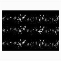 Black elegant  Xmas design Large Glasses Cloth (2-Side)
