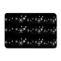 Black elegant  Xmas design Small Doormat