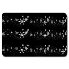Black elegant  Xmas design Large Doormat