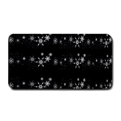 Black elegant  Xmas design Medium Bar Mats