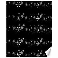 Black elegant  Xmas design Canvas 11  x 14